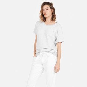 EVERLANE Grey Short Sleeve Sweatshirt